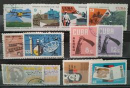 CUBA - 1962/1968 Lot 12 Valeurs Oblitérées Dont Séries à Voir - Usati