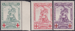Belgie   .   OBP  .    126/128  (2 Scans)      .   **    .   Postfris     .  /  .   Neuf  SANS Charnière - 1914-1915 Red Cross