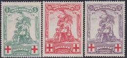 Belgie   .   OBP  .    126/128  (2 Scans)      .   **    .   Postfris     .  /  .   Neuf  SANS Charnière - 1914-1915 Rotes Kreuz