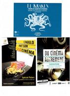 Lot 3 Cpm - Affiche Film Cinéma - Publicité Polars Montpellier L'Agglo 2008 TOULOUSE 2015 Le Kraken DIJON 2018 Pieuvre - Plakate Auf Karten