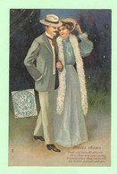 K467 - Illustration Couple - Douces Choses - Carte Gaufrée - Circulée En 1906 - Série 591 - Couples