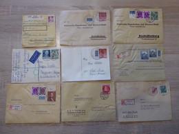 Berlin Konfolut Mit 9 Briefbelege 50er Jahre (F25-0044) - Storia Postale