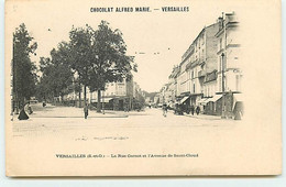 VERSAILLES - La Rue Carnot Et L'Avenue De Saint-Cloud - Chocolat Alfred Marie - Versailles
