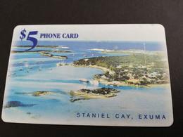 BAHAMAS $5,- CHIPCARD  OLD LOGO  STANIEL CAY ,EXUMA      THE  BAHAMAS  **5384** - Bahamas