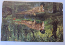 Künstlerkarte, Frauen, Mode, Am Weiher,   1918  ♥ (22263) - 1900-1949