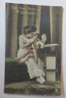 Engel, Amor, Frauen, Mode, Unter Amors Führung  1910 ♥ (31794) - Pascua
