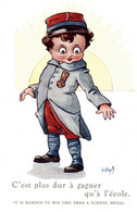 CPA - WW1 WWI Propaganda Propagande - A. WUYTS - Enfant Militaire - Umoristica Satirica, Humour Satirique - NV - PV570 - Oorlog 1914-18