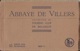 Abbaye De Villers - Carnet De 10 Cartes-vues Détachables Touring Club De Belgique Série 1 - Complet Villers La Ville - Villers-la-Ville
