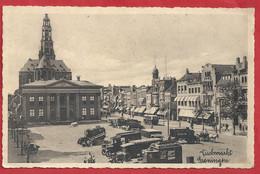 NL.- GRONINGEN - VISCHMARKT. VISMARKT. KORENBEURS. DER Aa-KERK. Old Cars.  Bus. Paard En Wagen. - Groningen