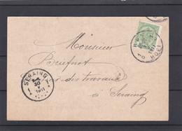 N° 83 PERFORE C R / Carte De Huy Vers Stavelot - 1893-1907 Coat Of Arms