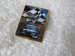 PIN'S    OPEL  CALIBRA   ITC  CHAMPION 1996 MANUEL  REUTER - Opel