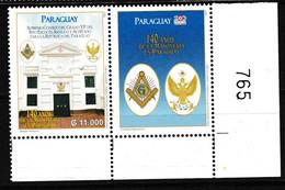 82 - PARAGUAY, Timbre Commémoratif, Tirage Limité, Bdf Luxe** - Freemasonry