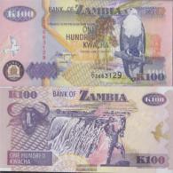 Sambia Pick-number: 38b Uncirculated 1992 100 Kwacha - Zambia