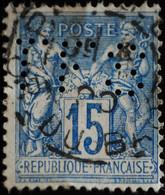 -Sage N°101 Type II  Ob  ( CAD ) PARIS R DU BAC.  ( Perforé TFS ) - 1876-1898 Sage (Tipo II)