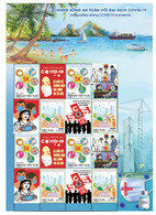 Vietnam Viet Nam Sheetlet Issued On 8th Of May 2021 : LIVING SAFELY WITH COVID-19 PANDEMIC / VACCINATION - Vietnam