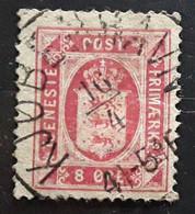 DANMARK DANEMARK 1875, Timbre De Service Yvert No 8 B , 8 Ore Rouge Carmin D 14  , Obl TB - Dienstzegels