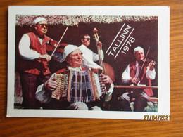 1978 ESTONIA   DANCE FESTIVAL  FOLK COSTUMED MUSICIANS ,  CALENDAR  ,  O - Small : 1971-80
