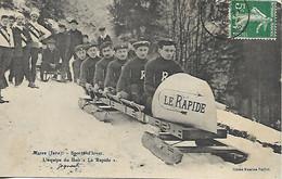 """MOREZ SPORTS D'HIVER 1909 L'EQUIPE DE BOB """"LE RAPIDE"""" - Morez"""