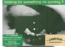 F70 Cpa   / CARTE CPM Publicitaire PUB Advertising Card Cart'com Music JAZZ CLUB COOLIN PARIS - Música Y Músicos