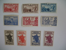 Indochine Stamps French Colonies   N° 199 à 208    Neuf */**   à Voir  Tous Neuf * Sauf 203/204 - Unused Stamps