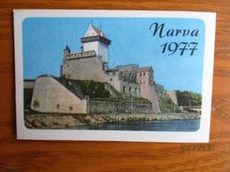 1977 ESTONIA   NARVA CASTLE ,  CALENDAR  ,  O - Small : 1971-80