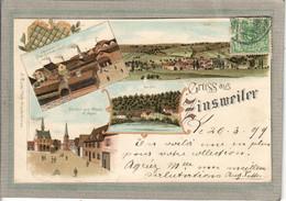 CPA - ZINSWEILER (67) ZINSWILLER - Carte GRUSS Multivues Litographie De 1899 - Usine Dietrich Et Restaurant Au Boeuf - Andere Gemeenten