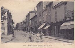Cpa - 69 - St Genis Laval - Rue De Lyon - Altri Comuni