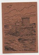 CIBOURE - Saint Jean De Luz - Socoa Le Fort - Carte En Liège & Illustrée - Vierge - Tbe - Ciboure