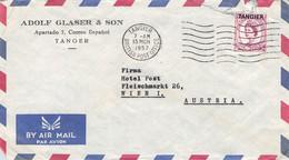 TANGIER - AIR MAIL 1957 TANGER > WIEN/AT /Q361 - Oficinas En  Marruecos / Tanger : (...-1958