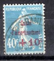 N° 246 - +10c Sur 40c Bleu- Oblitéré - Sinking Fund