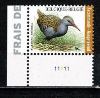 Belg. 2017 OBP/COB 4671** Plaatnr. 1 - Buzin Waterral / Râle D'eau - Aantekenport / Envoi Recommendé - Ongebruikt