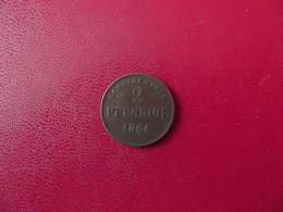 2 Pfenninge - Wilhelm I Royaume De Prusse 1864 Allemagne - Otros