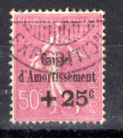 N° 254 - +25c-sur 50c -rose Lilas - Oblitéré - Sinking Fund