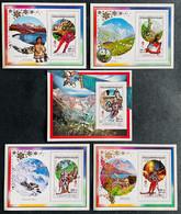 S/S & Deluxe Blocks Stamps O.G Albertville 92 Madagascar 90 IMPERF. - Inverno1992: Albertville