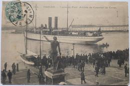 105 - TOULON - Carré Du Port - Arrivée Du Courrier De Corse - Toulon