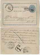 Brazil 1883 Postal Stationery RHM-BP-4 From Sapocaia To Rio De Janeiro - Postal Stationery