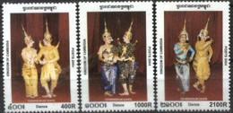 CAMBODIA, 2003, DANSES, YV#1952-54, MNH - Cambogia