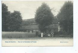 Bourg Leopold Camp De Beverloo Vue Sur La Couronne De France ( Vue Avec Personages !!! ) - Leopoldsburg (Kamp Van Beverloo)