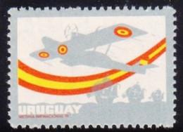 1976 URUGUAY Mnh VARIETY Missing Legends And Black 50 Years Travesia PLUS ULTRA Atlantico Hidroavion Plane Yv 936b R83-6 - Uruguay