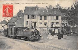 PONT DE BEAUVOISIN - Place Carouge Et Tramway De Saint Genix - Très Bon état - Other Municipalities