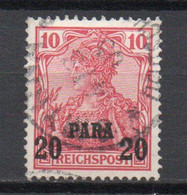 - TURQUIE / BUREAUX ALLEMANDS N° 24 Oblitéré - 20 Pa. S. 10 P. Germania 1904-05 (A Barrés En Haut) - Cote 25,00 € - - Offices: Turkish Empire
