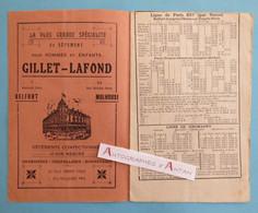 BELFORT 1931 Livret 16p Horaires Trains Tramways & Transports Automobiles De La Région - Giromagny PLM - Publicités - Europe