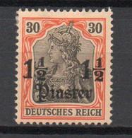 - TURQUIE / BUREAUX ALLEMANDS N° 33 Neuf * - 1½ Pi. S. 35 P. Rouge Et Noir S. Chamois Germania 1905 - Cote 25,00 € - - Offices: Turkish Empire