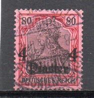 - TURQUIE / BUREAUX ALLEMANDS N° 36 Oblitéré - 4 Pi. S. 80 P. Rouge Et Noir S. Rose Germania 1905 - Cote 25,00 € - - Offices: Turkish Empire
