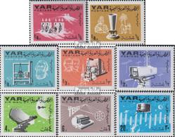 Nordjemen (Arabische Rep.) 451A-458A (kompl.Ausg.) Postfrisch 1966 Nachrichtenübermittlung - Yemen