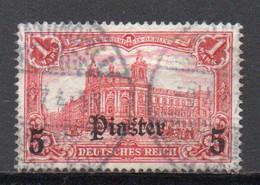 - TURQUIE / BUREAUX ALLEMANDS N° 37 Oblitéré - 5 Pi. S. 1 M. Carmin 1905 - Cote 40,00 € - - Offices: Turkish Empire