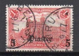 - TURQUIE / BUREAUX ALLEMANDS N° 48 Oblitéré (signé) - 5 Pi. S. 1 M. 1905-13 (filigrane Losanges) - Cote 45,00 € - - Offices: Turkish Empire