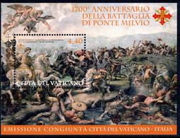 VATICANO 2012 Foglietto 1700° Anniversario Della Battaglia Di Ponte Milvio - Unused Stamps
