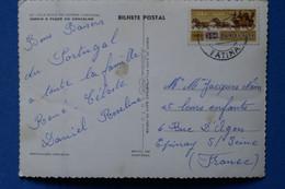 R9 PORTUGAL BELLECARTE 1963 FATIMA POUR EPINAY FRANCE + AFFRANCH INTERESSANT - Covers & Documents