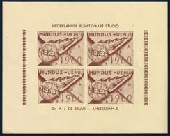NEDERLANDSE RUIMTEVAART STUDIO Dr A. J. DE BRUIJN - AMSTERDAM-Z. MUNDUS VENUS 1960 - POSTA RAZZO CINDARELLA VIGNETTE ** - Europa